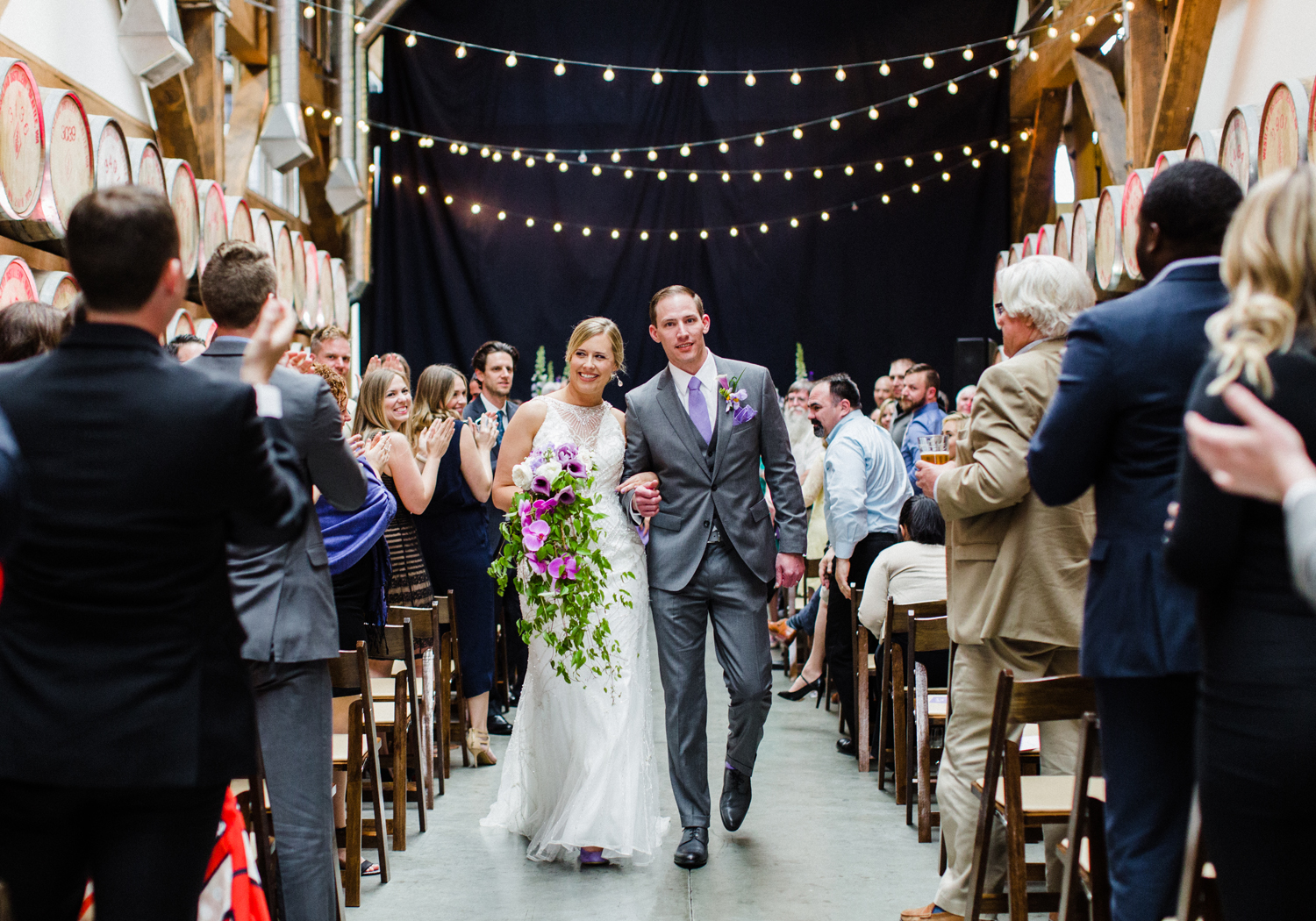 Purple Ombre Wedding at Westland Distillery by Alexandra Knight Photography Seattle Wedding Photographer