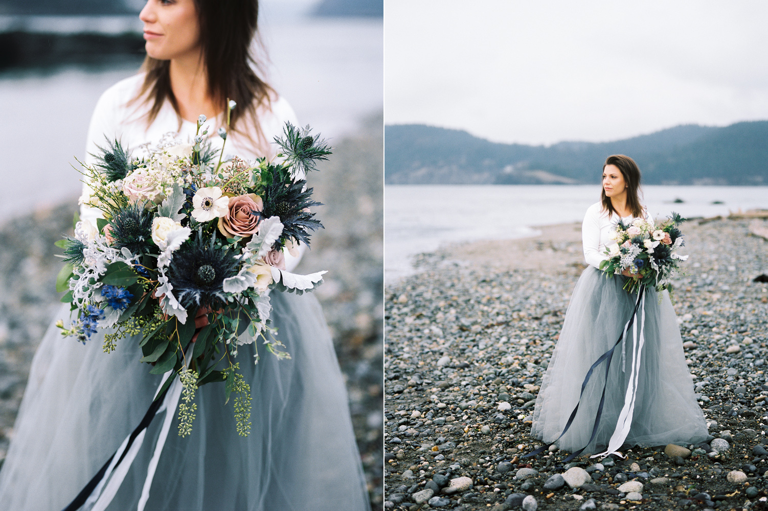 Pacific Northwest custom moody floral bouquet for an engagement session.jpg