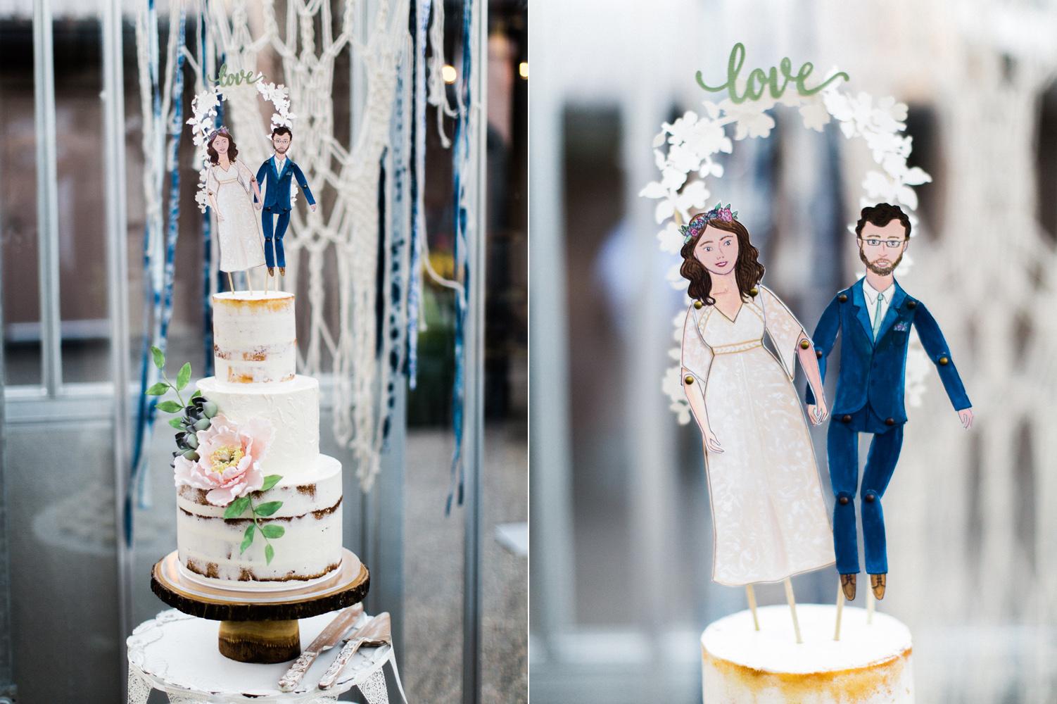 Wedding Cake at the University of Washington by Honey Crumb Cake Studio