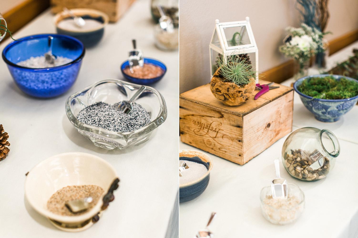 Wedding Favor Idea Make Your Own Terrarium Seattle Boho Wedding Photography