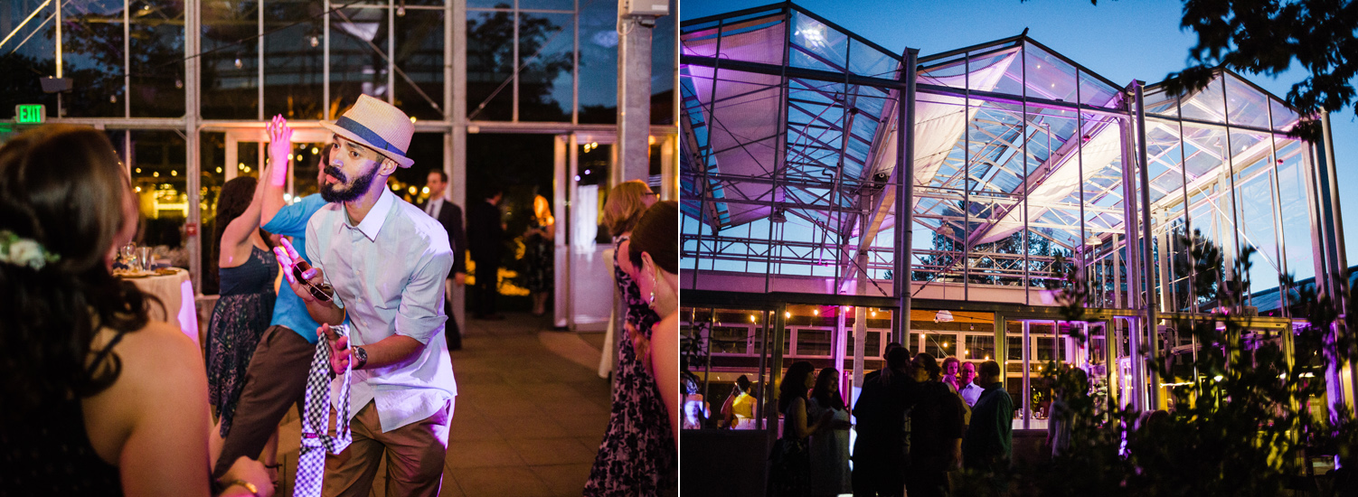 University of Washington Center for Urban Horticulture Wedding Reception in the Greenhouse