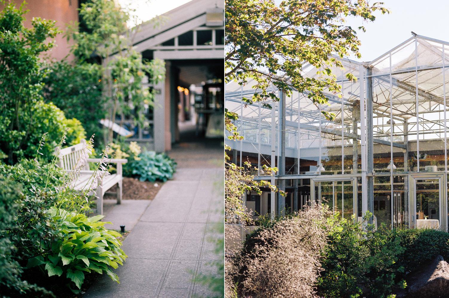 Seattle University of Washington Center for Urban Horticulture Boho Wedding Photography