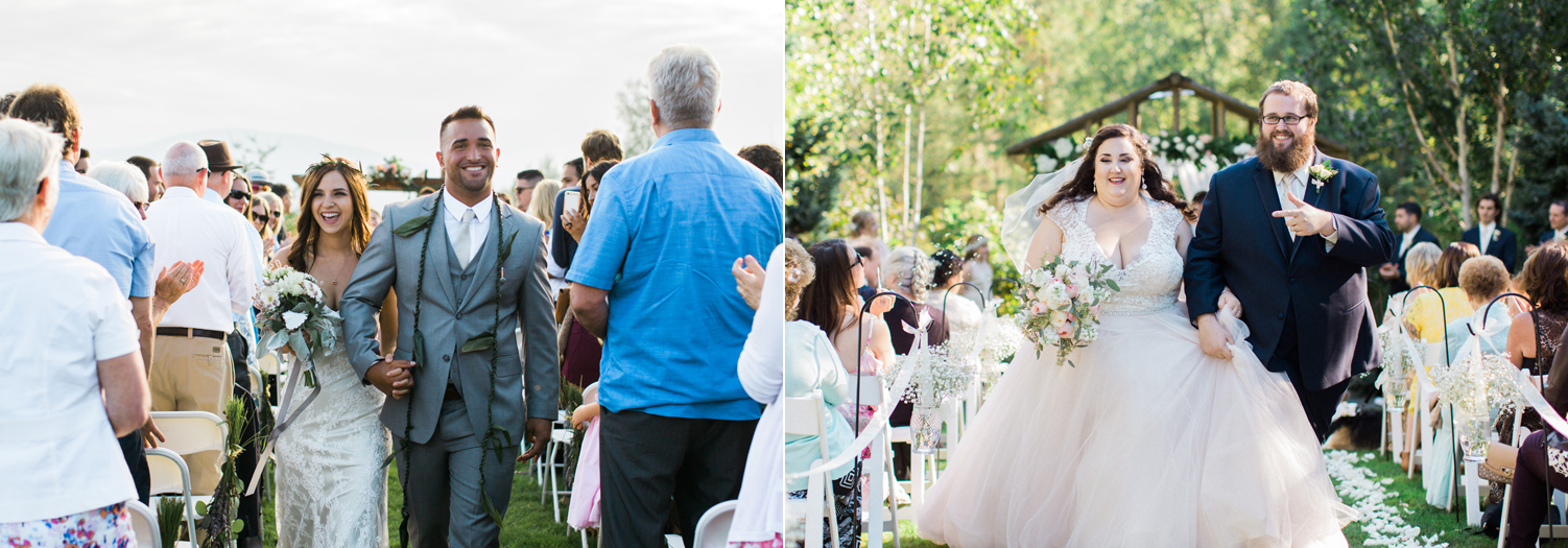 pacific northwest wedding photography ceremony recessional.jpg