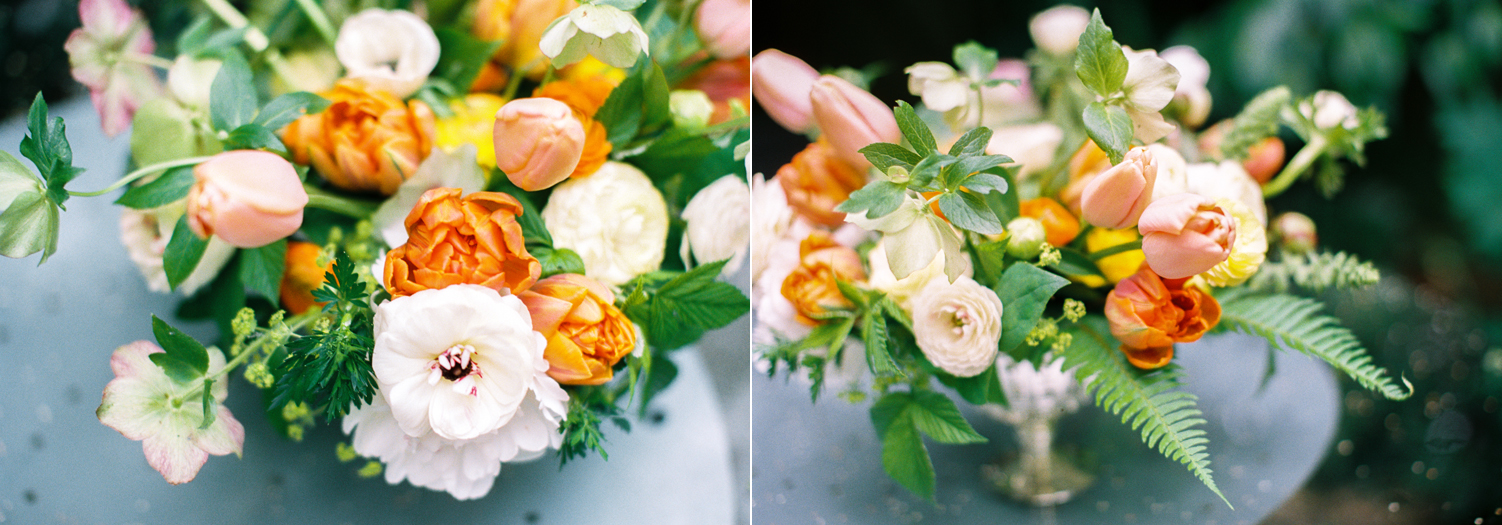 orange yellow and white compote flower arrangement seattle florist smashing petals.jpg
