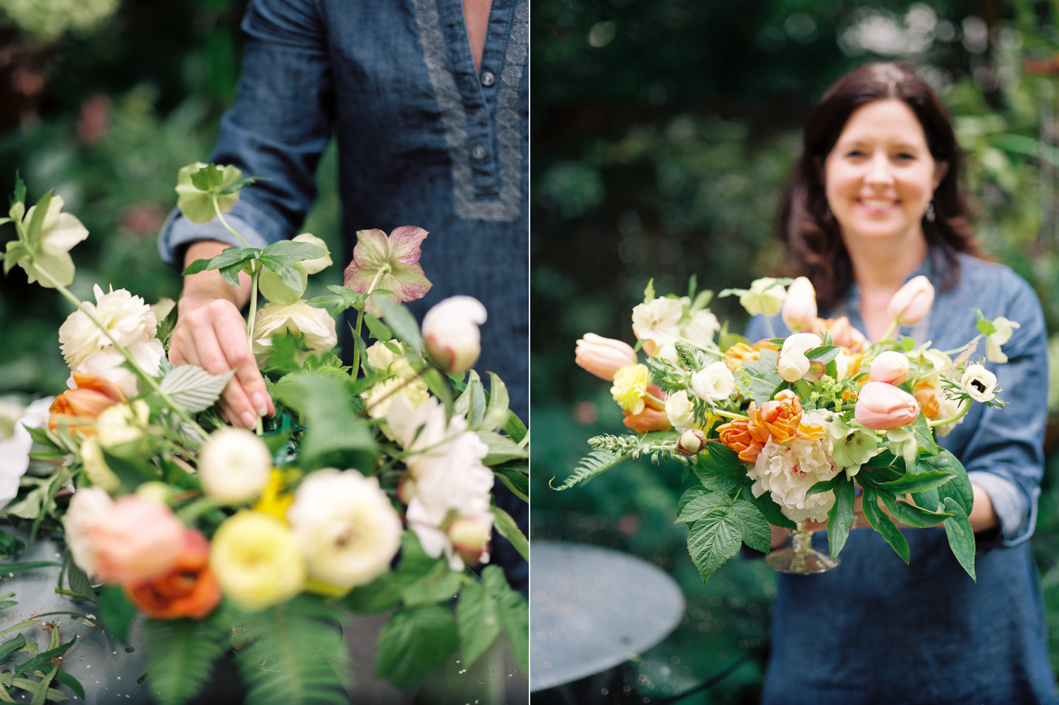 seattle wedding florist using peach and orange tulips by smashing petals.jpg