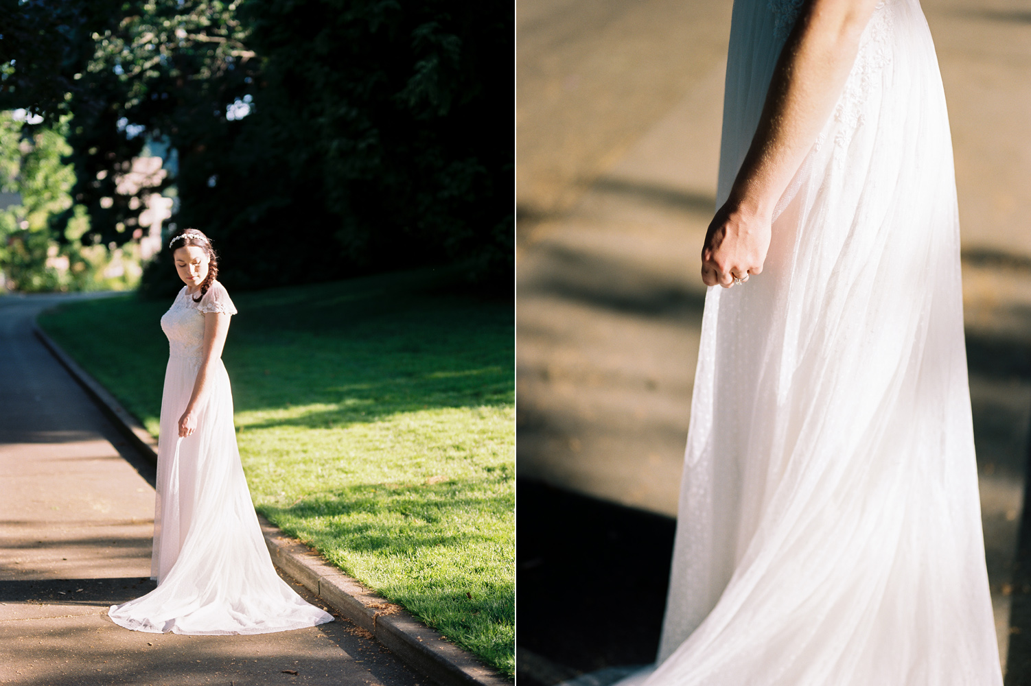 Summertime Ballard Locks Seattle Wedding Bridal Portrait Photography