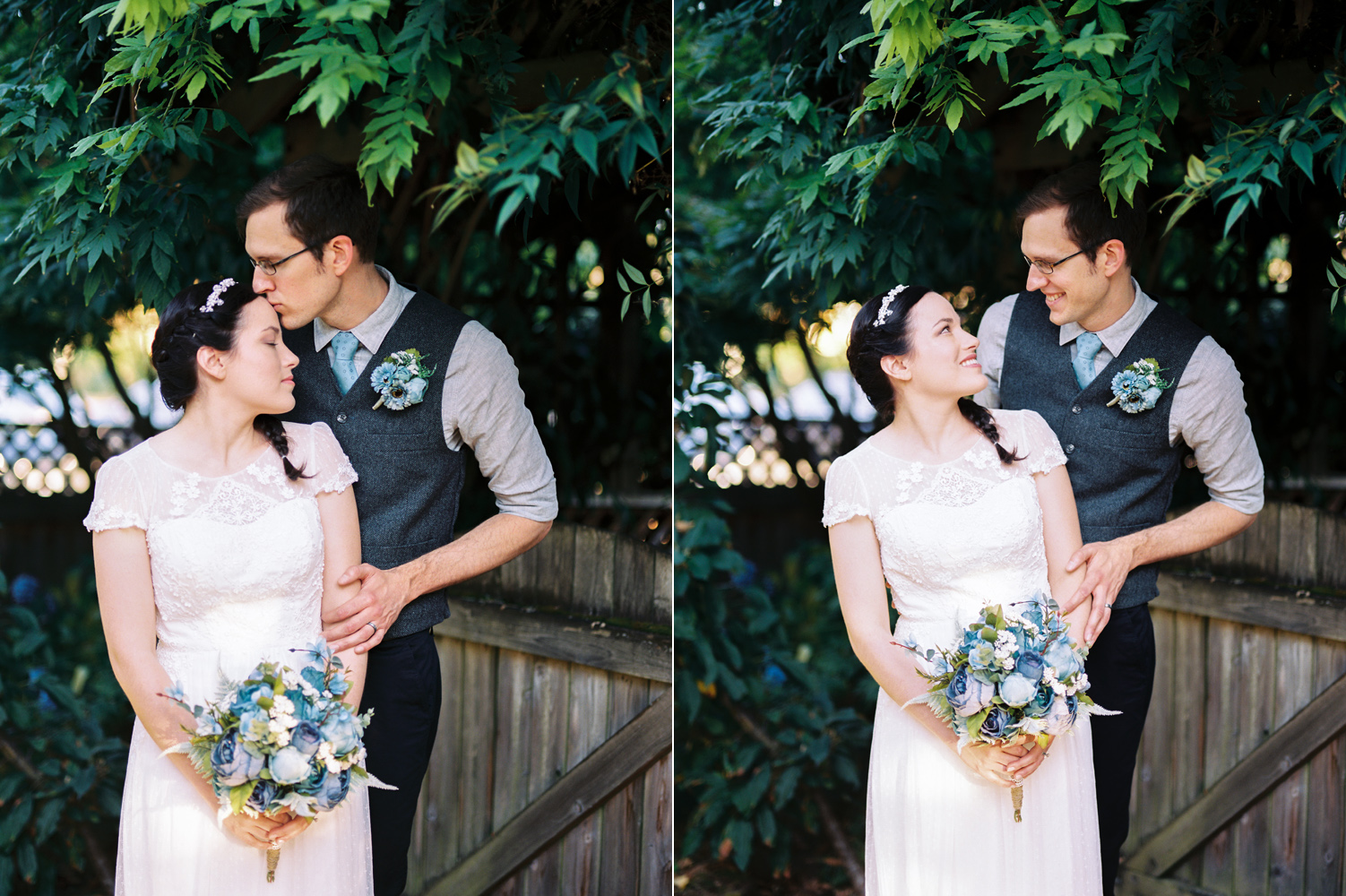 Intimate Backyard Ballard Wedding Bride and Groom Photography