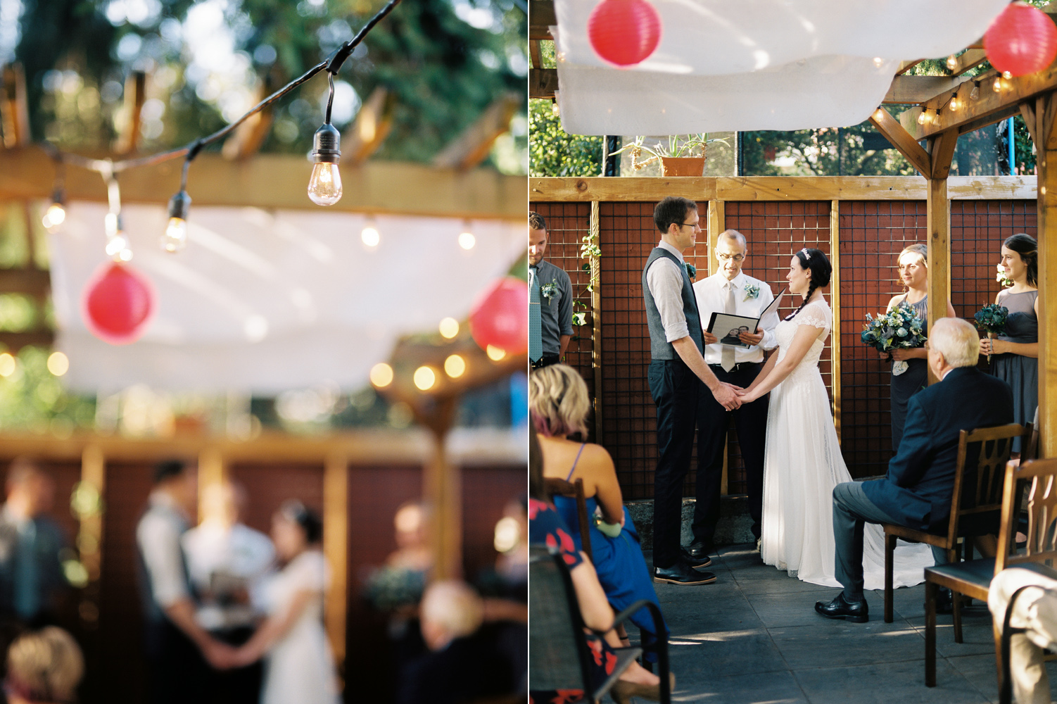 Intimate Backyard Ballard Wedding Ceremony Photography