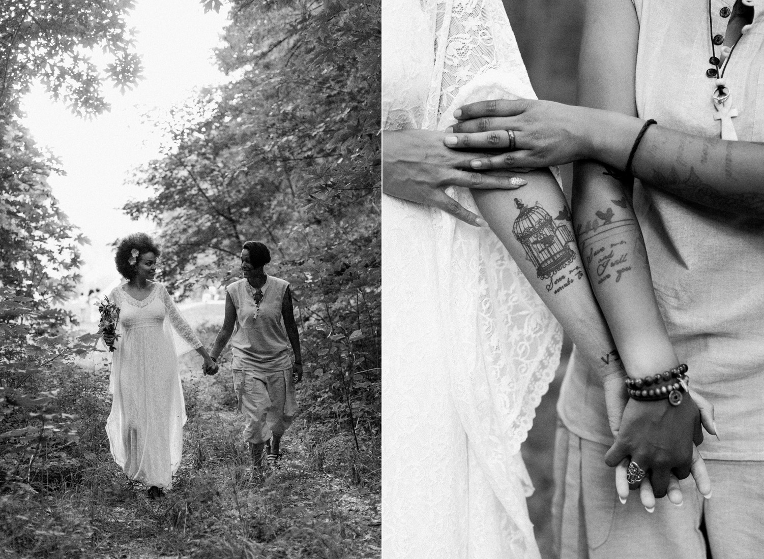 cascade mountains matching tattoos intimate same sex elopement photography.jpg