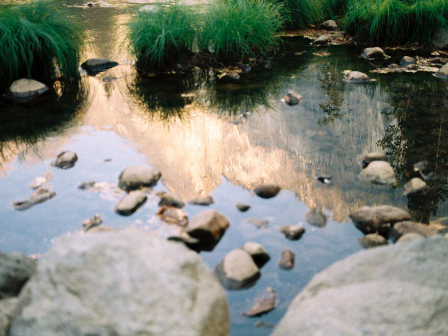 yosemite national park photography on film with el capitan reflection.jpg