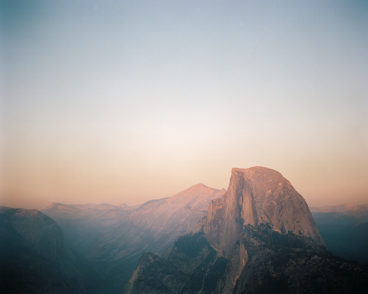 yosemite national park half dome peak from glacier point on fim after sunset.jpg
