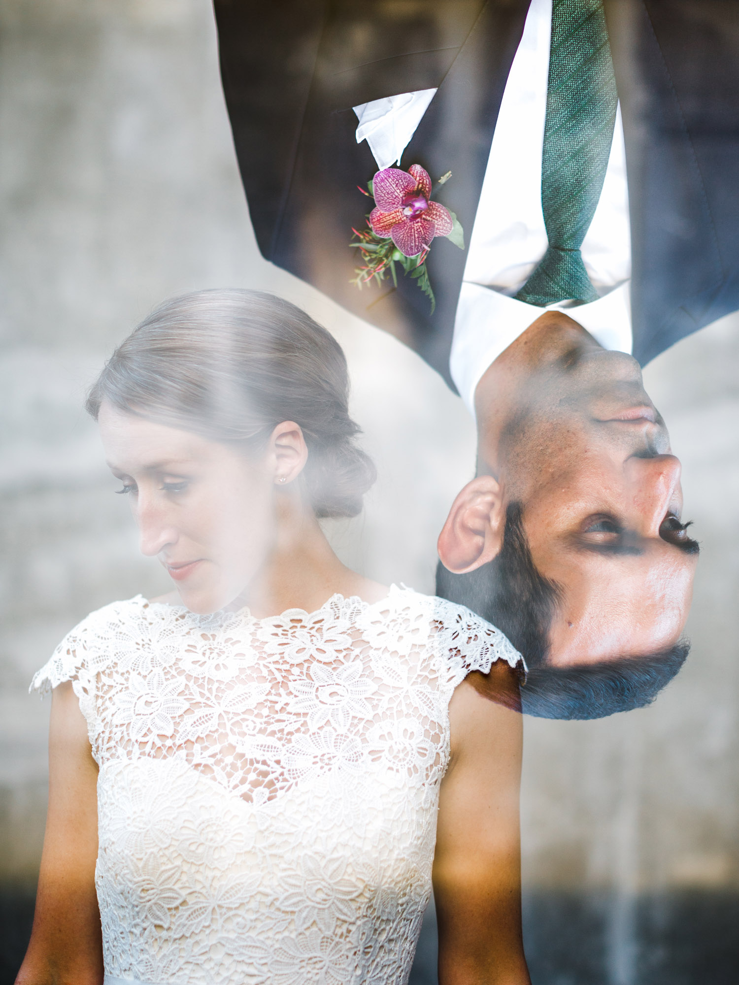 Seattle Modern Bride and Groom Double Exposure Wedding Photography.jpg