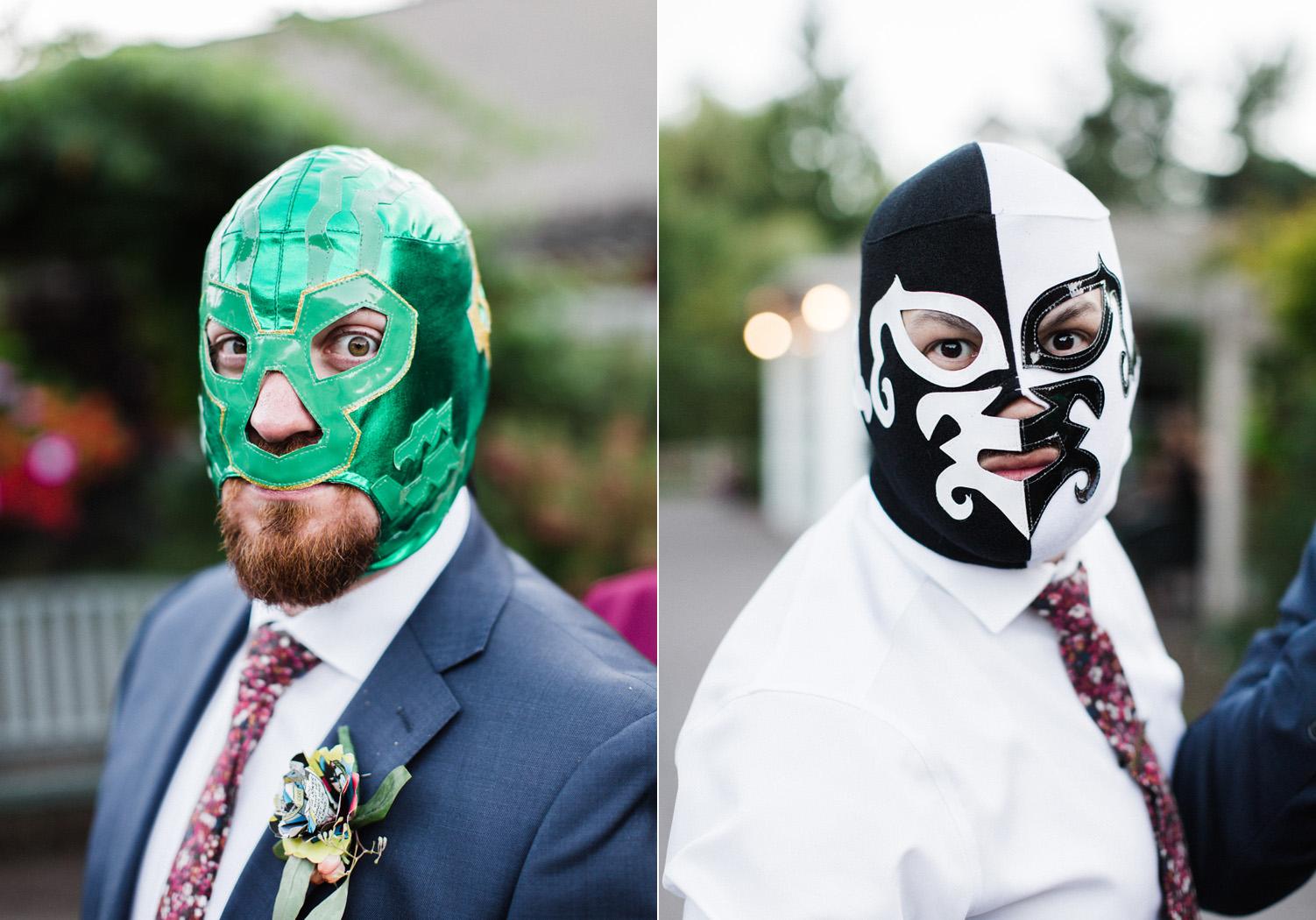 Seattle Wedding Photography Groomsmen Luchador Wedding Gifts.jpg