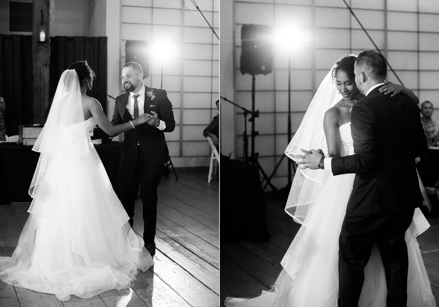 Seattle Wedding Photography First Dance at Pickering Barn Venue.jpg