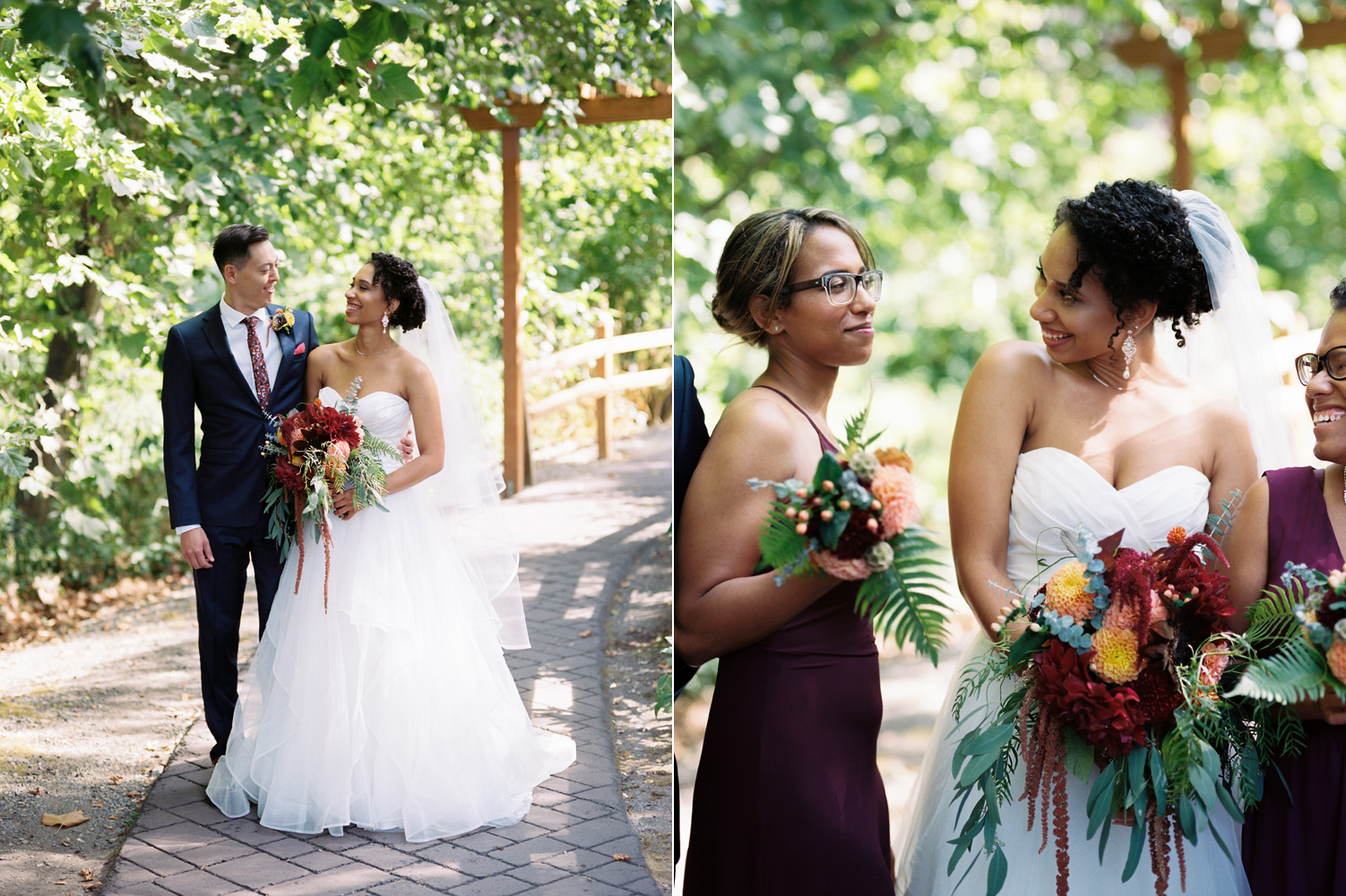 Seattle Burgundy and Navy Bridal Party Wedding Photography.jpg