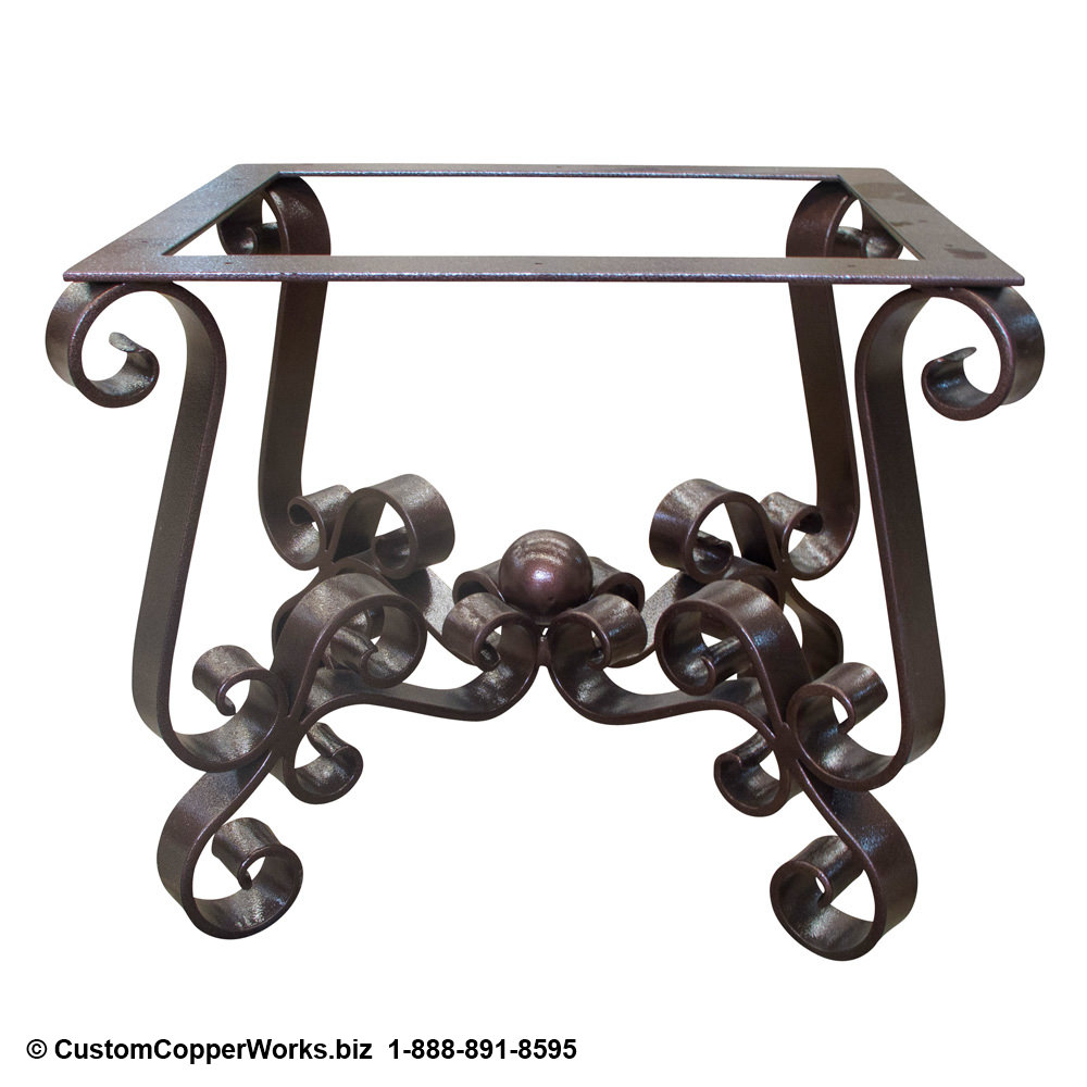 End Table Forged Iron Table Base