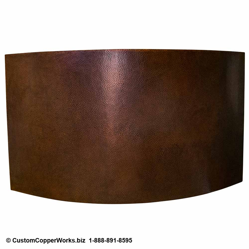 "Copper Double-walled Japanese Soaking Tub, 42"" x 48"" x 36"" with removable 2nd bench and matching corner Vessel Sink. Click on photo for larger view. CCW Design # 116."