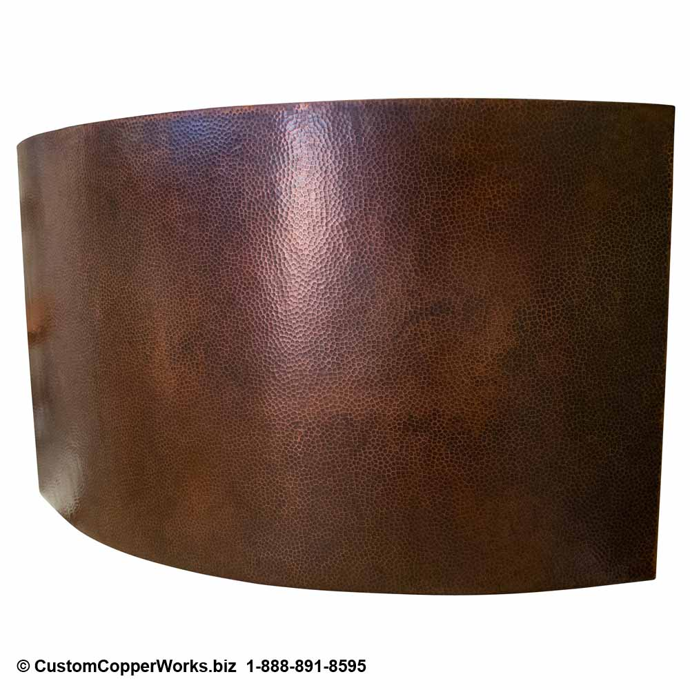 Double Wall Copper Soaking Tub, Corner Mount, Matching Copper Sink. ccw design 116.