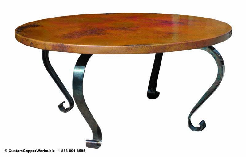 Copper Top Tables | Forged-iron Table Bases -  CCW DESIGN 10