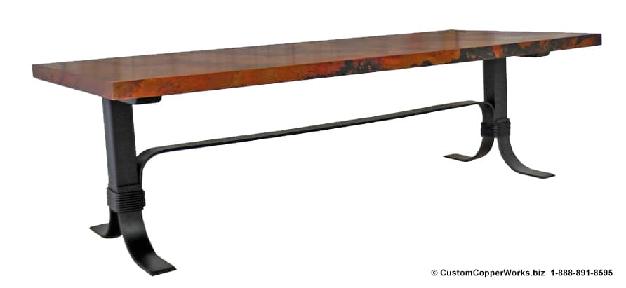 Copper Top Tables | Forged-iron Table Bases -  CCW DESIGN 72