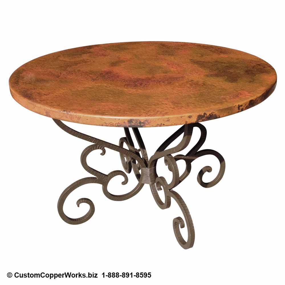 Copper Top Tables | Forged-iron Table Bases -  CCW DESIGN 17
