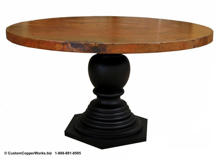 Copper Top Tables | Wood Table Base -  CCW DESIGN 35