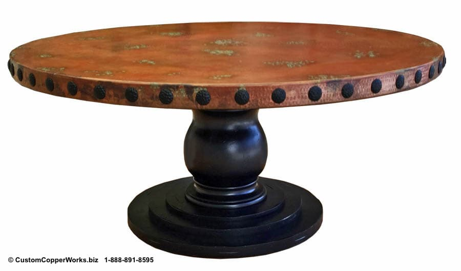 Copper Top Tables | Wood Table Base -  CCW DESIGN 90