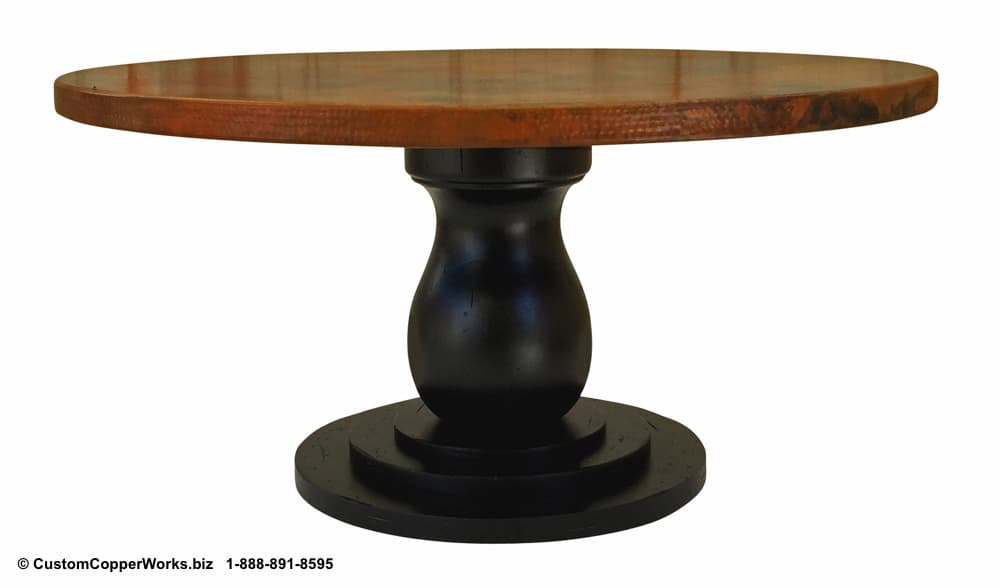 Copper Top Tables | Wood Table Base -  CCW DESIGN 89