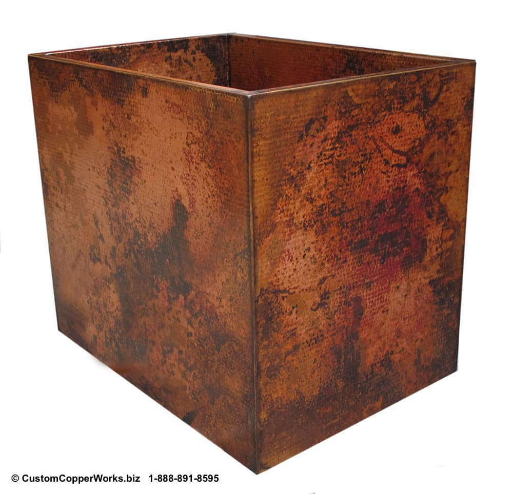 """Copper Free Standing Double Wall Soaking Tub - 42"""" x 30"""" x 36"""" with Farmhouse Sink. CLICK ON IMAGE FOR LARGER VIEW. CCW DESIGN #75."""