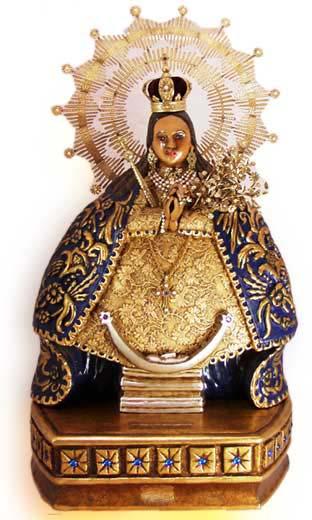 La Puerta del Cielo – Inspired, original and innovative guilded folk art.    INDIGENOUS MADONNA OF HEALTH