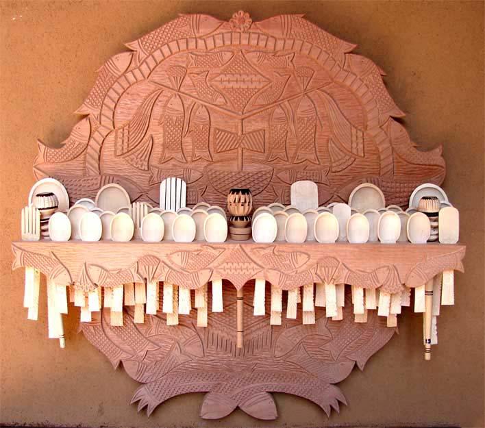 Jose Luis Cerda Baez, famed Cucharro (spoon holder) artist.