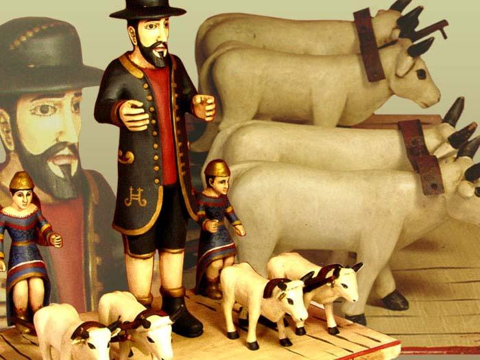 Don Salvadore Y Hijos – Unique, wood-carved, hand-painted SANTOS FOLK ART