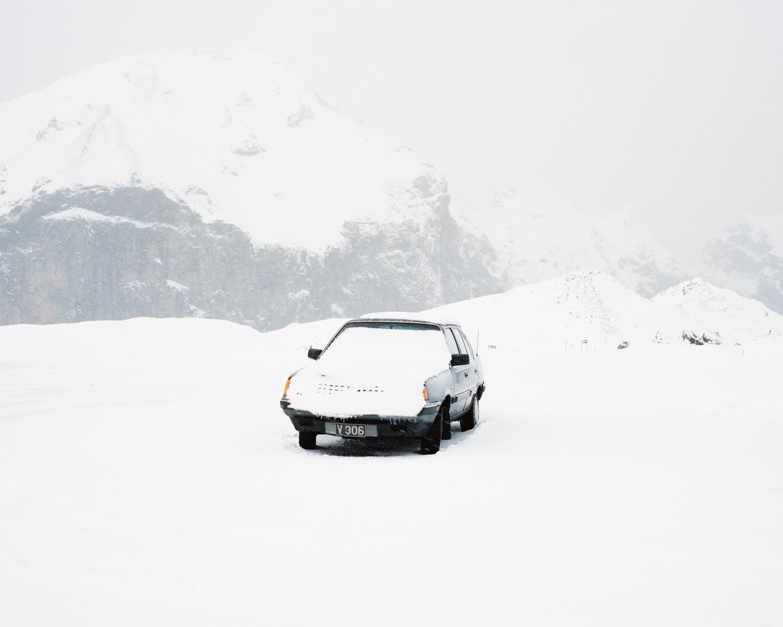 Car in Snow, Vestmannaeyjar, 2015.  Project Statement