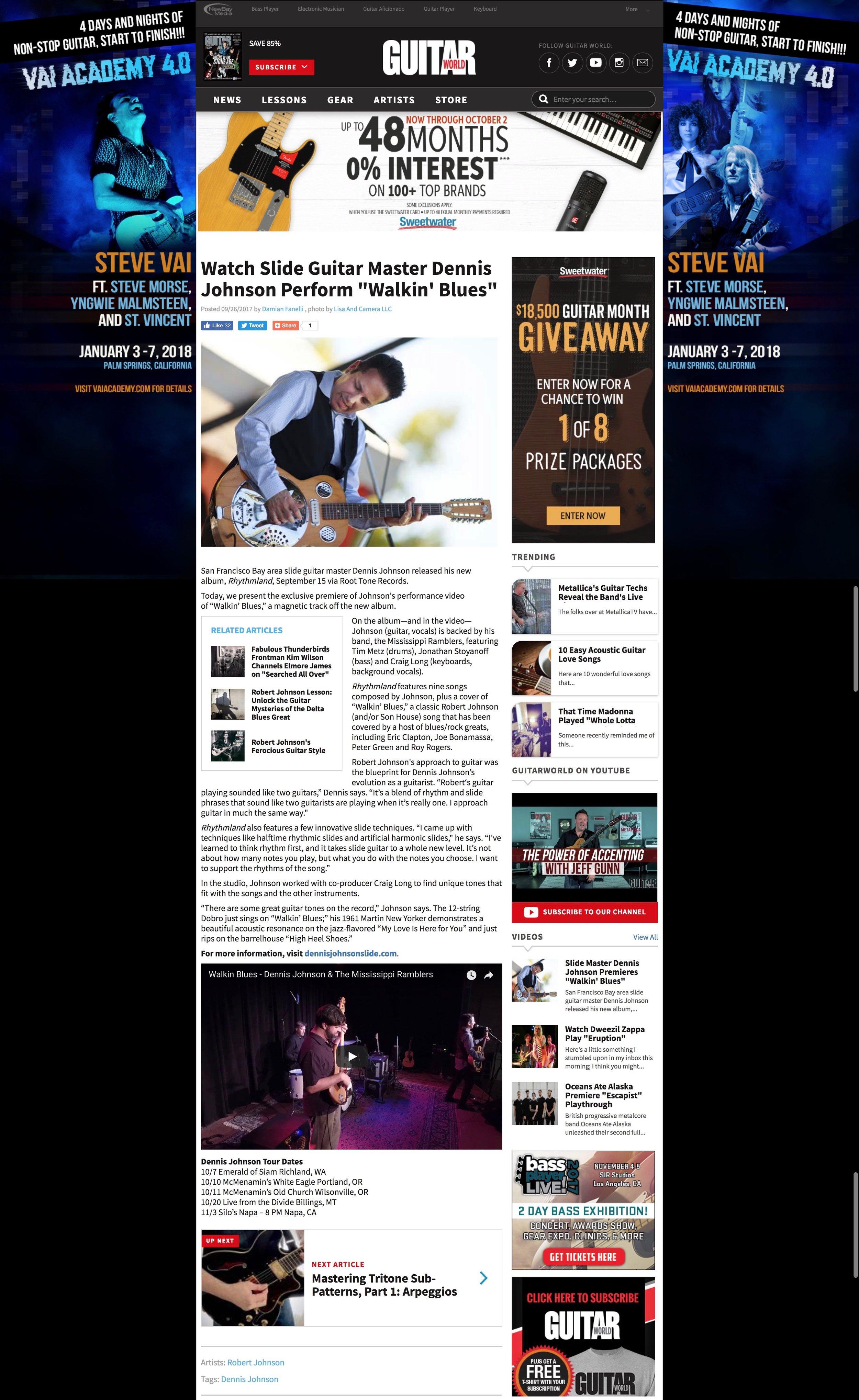 WatchSlide Guitar Master Dennis Johnson Perform  Walkin  Blues    Guitar World best (1).jpg