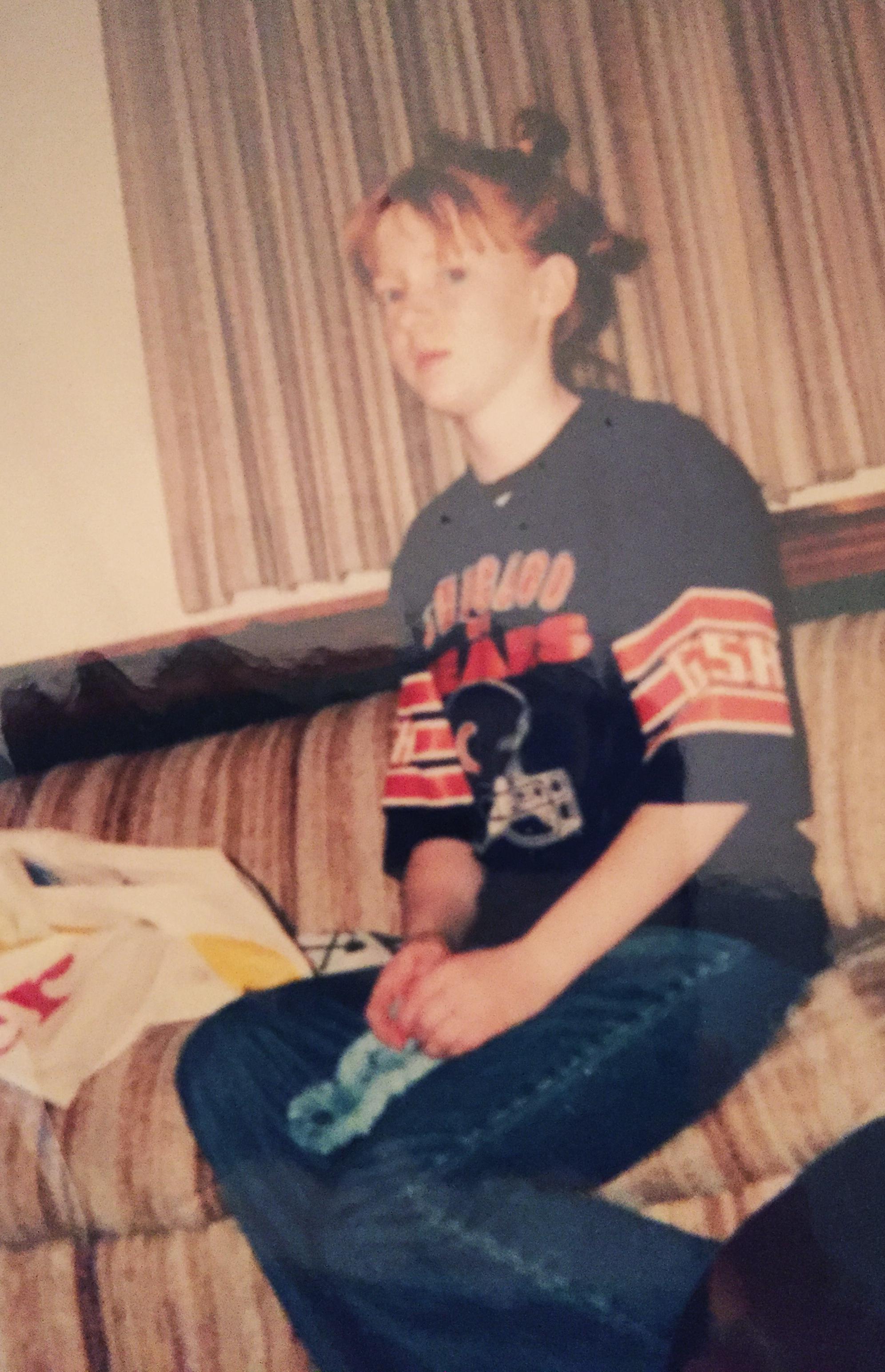 Me circa 12, in all my wacky girls'sleepover 'do glory.