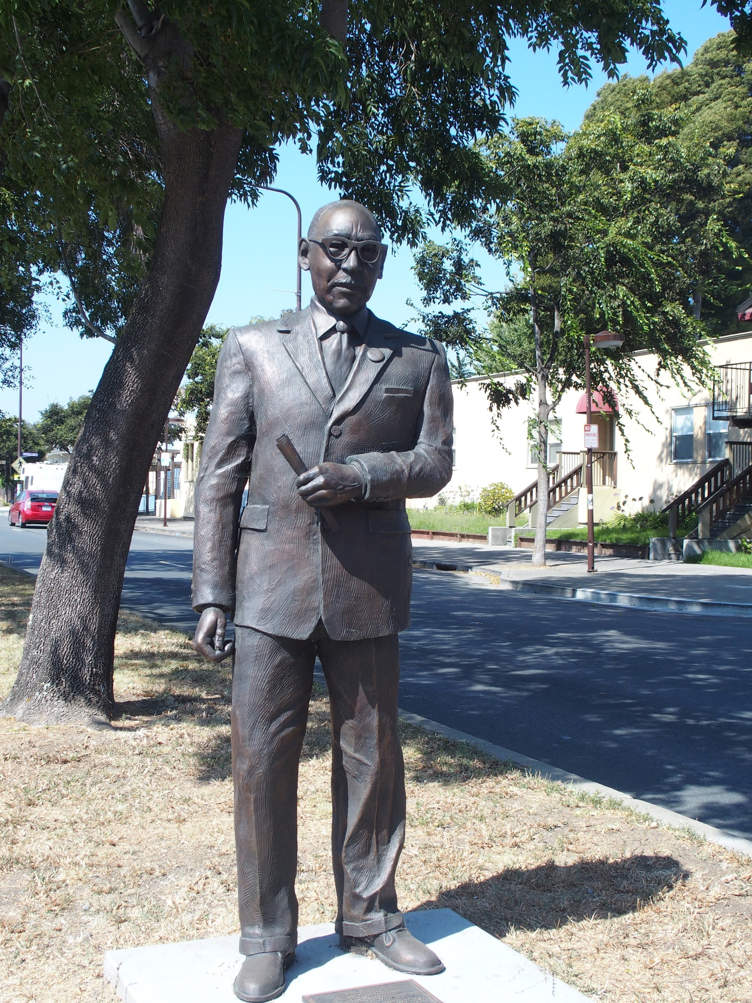 Statue of civil rights leader William Byron Rumford