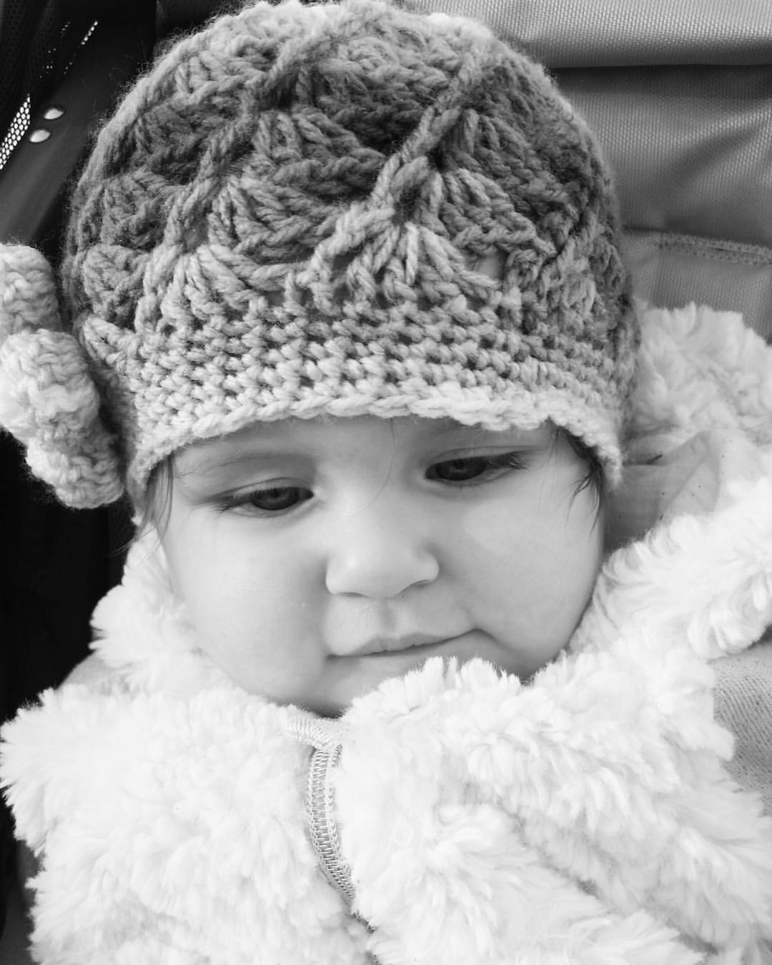 Harlow Rain, with her special hat that was handmade for her and shipped from Paris.