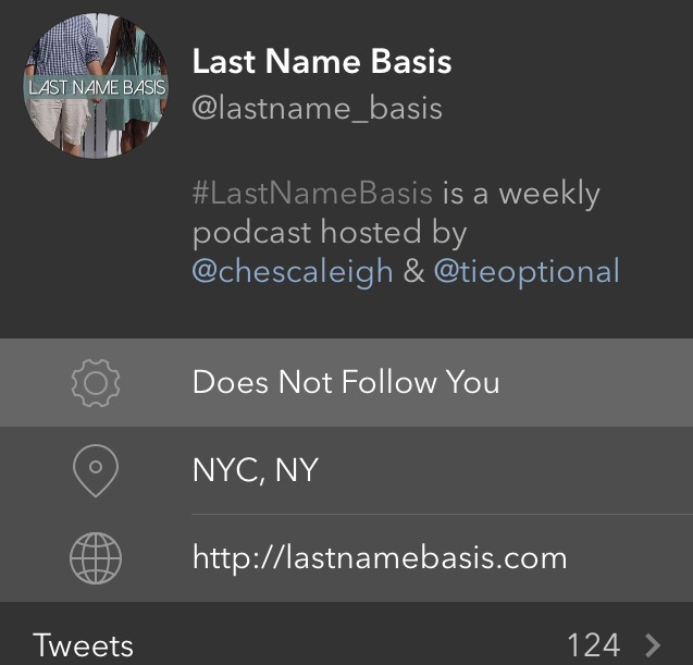 This is their podcast twitter account