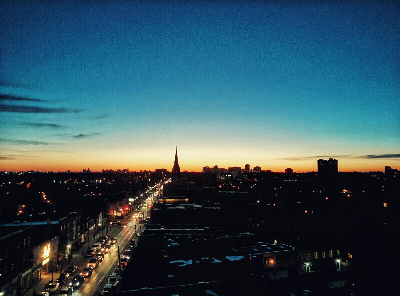 Sunset on Dundas