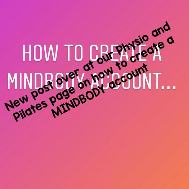 Go over to @physioandpilatesonbeaufort for a step by step guide to signing up to a MINDBODY account
