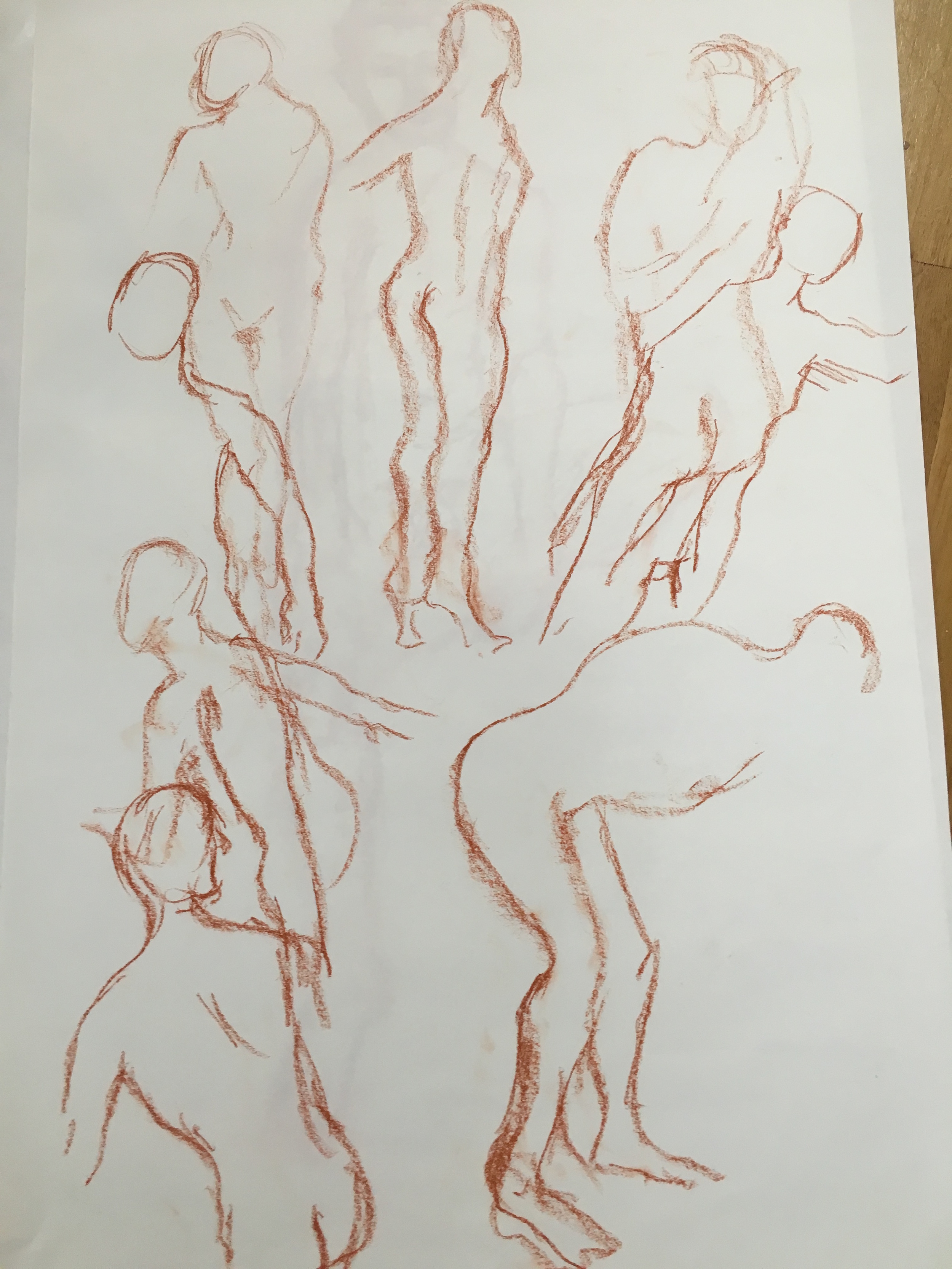 Series of 8x 1 minute poses