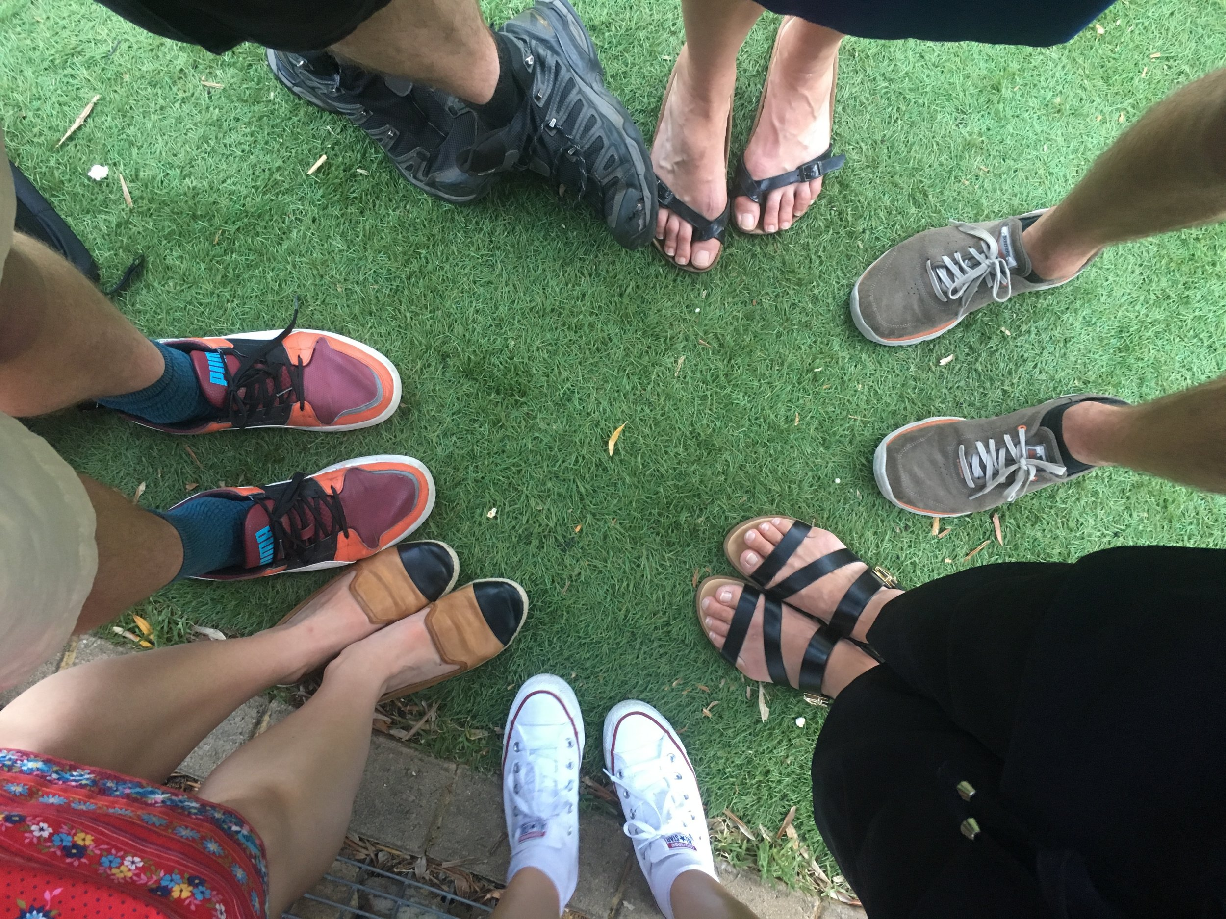 Our feet on the Friday after we'd finished our last improv... we were getting drunk at a beer garden, doing our fabulous moves we'd learnt during the workshop in front of the non-dancers of the crowd. Love an audience.