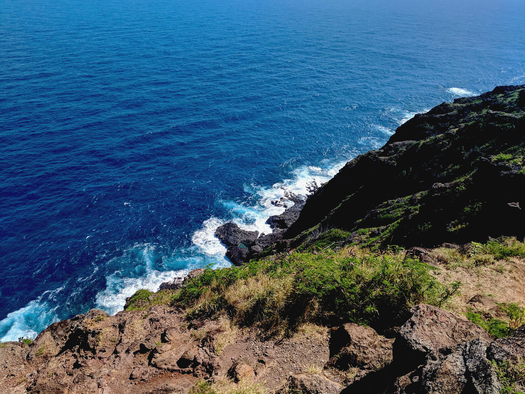 One of my favourite parts of the trip was the Makapu'u Point Lighthouse Trail, but going on to the unmarked trail to the tide pools