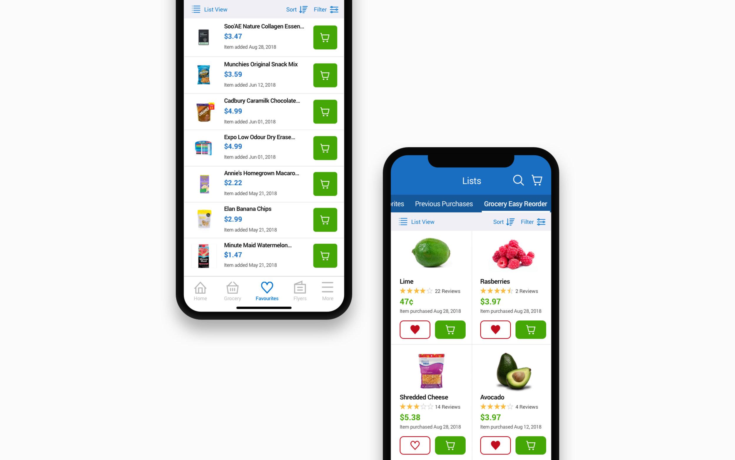 E-commerce App: Shopping Lists