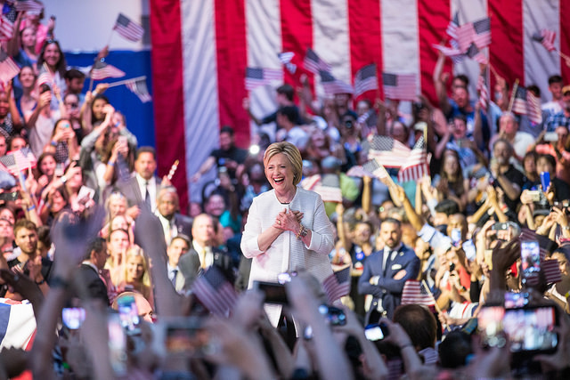 Relishing the victories that put her over the top on June 7th, 2016 (image  here )