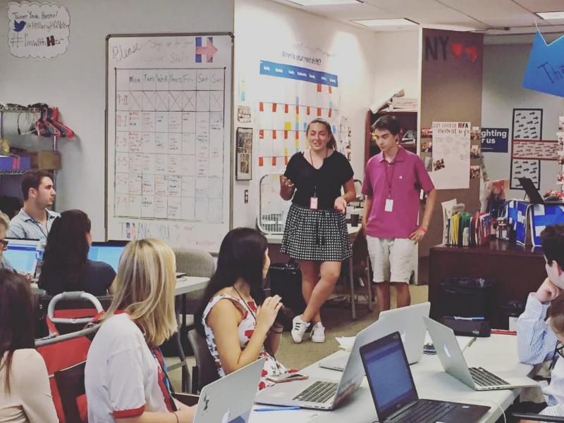 Presenting High Schoolers for Hillary at the volunteer HQ in Brooklyn, NY