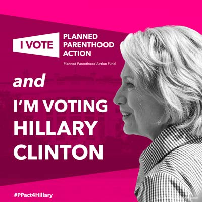 "If Hillary's so ""Republican,"" why did Planned Parenthood endorse her in the primary? (Image located  here )"