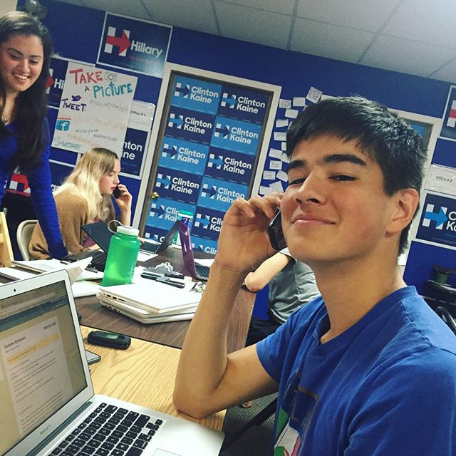 """""""I'm not old enough to vote in the general election, but I'm doing everything I can to help Hillary get to the White House. Can she count on your support on Election Day?"""" - @alex_rhee (WA) @hillaryforwashington"""