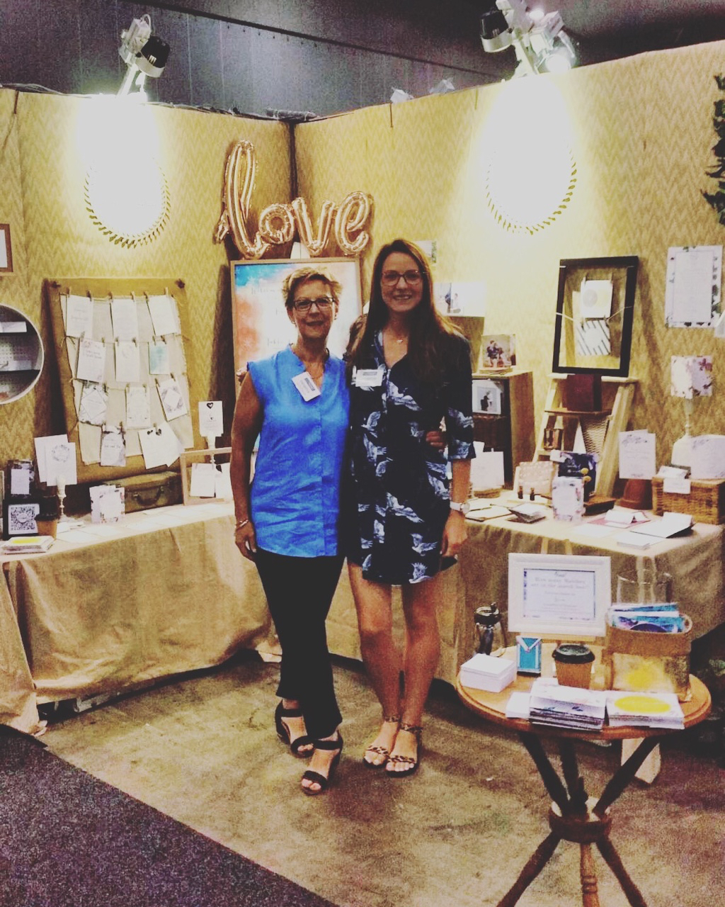 This is Mum and I, she's my little assistant who is also the artist of a lot of the artwork I use, specialising in Watercolour.   If you come visit me at the Bridal Fair's she'll be there chatting to everyone and supporting me everyday.