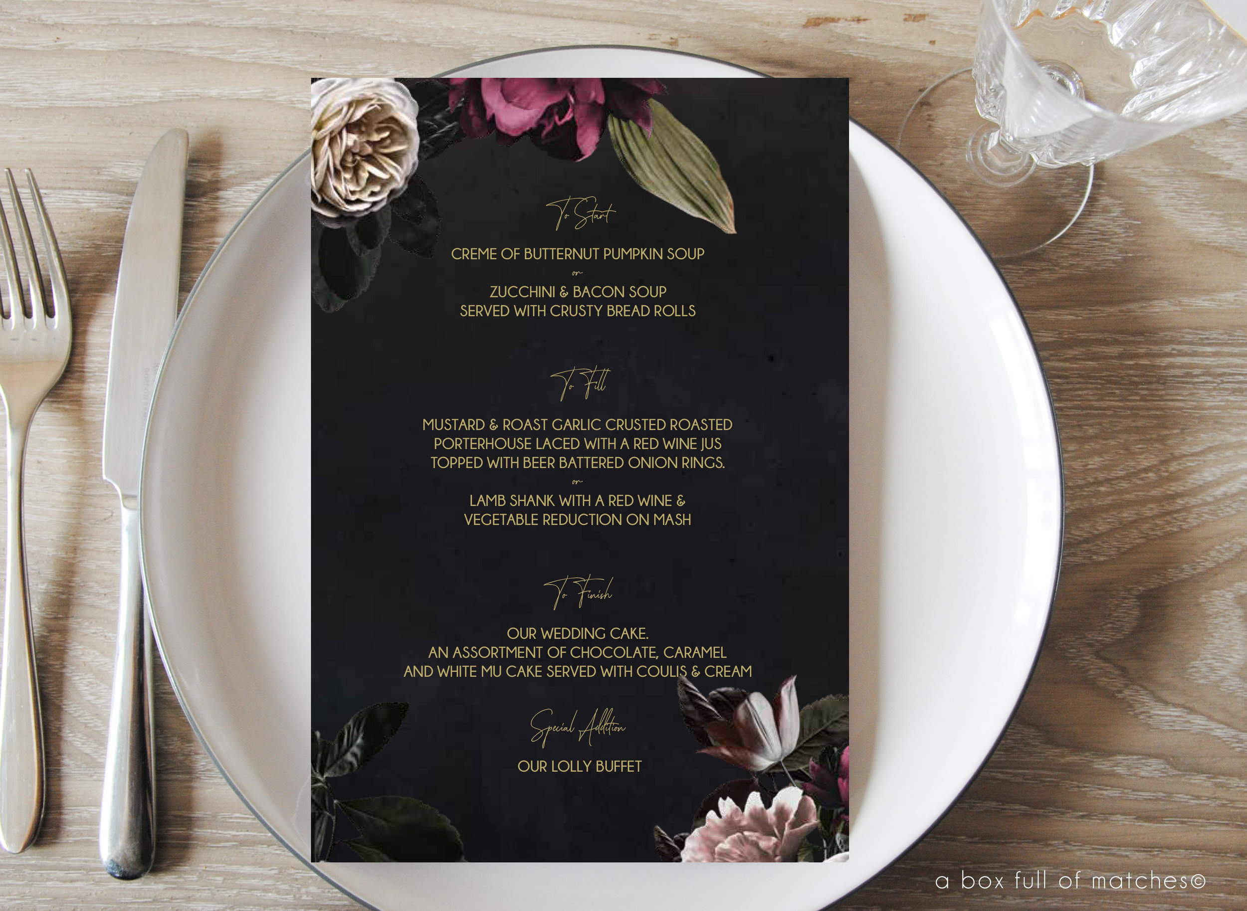 On the Day Stationery - From Save the Dates, to Place Cards, Menus, Table Numbers, Seating Chart, Welcome Signs, Stickers, Gift Labels, Guest Book Signage,Bar Signs, Wishing Well Signs, Coasters and much More!
